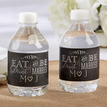 Load image into Gallery viewer, Personalized Water Bottle Labels - Eat, Drink & Be Married