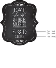 Load image into Gallery viewer, Personalized Kraft Fan - Eat, Drink & Be Married (Set of 12)