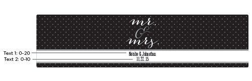 Personalized Water Bottle Labels - Mr. & Mrs.