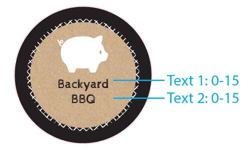 Personalized Silver Round Candy Tin - BBQ (Set of 12)