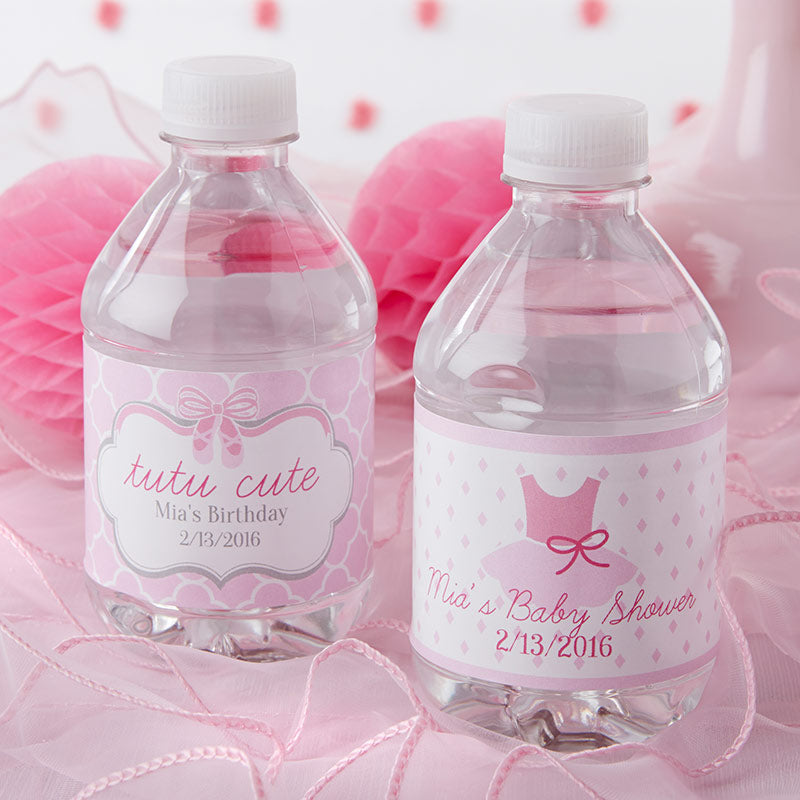 Personalized Water Bottle Labels Tutu Cute Kate Aspen