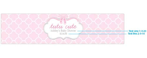 Personalized Water Bottle Labels - Tutu Cute