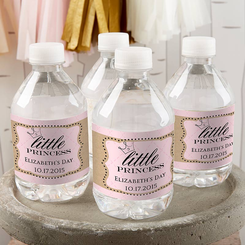Personalized Water Bottle Labels - Little Princess