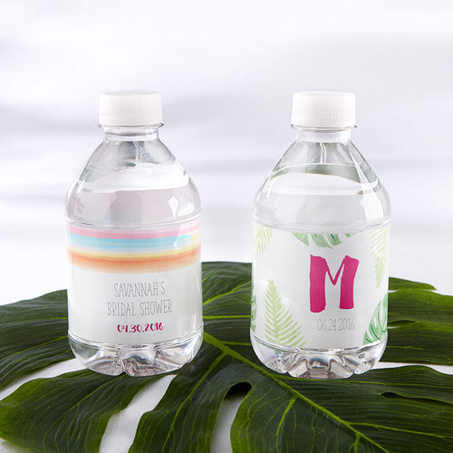 Personalized Water Bottle Labels - Pineapples & Palms