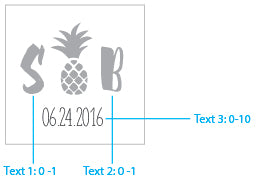 Personalized Glass Coaster - Pineapples & Palms (Set of 12)