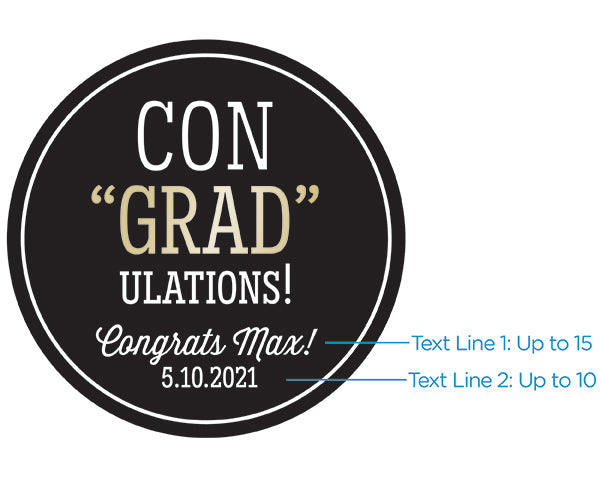 Personalized Silver Round Candy Tin - ConGRADulations! (Set of 12)