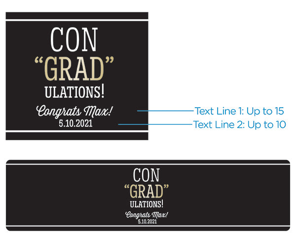 Personalized Water Bottle Labels - ConGRADulations!