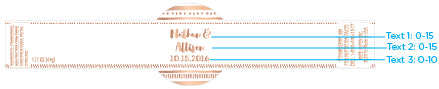 Personalized Strawberry Jam - Copper Foil (Set of 12)