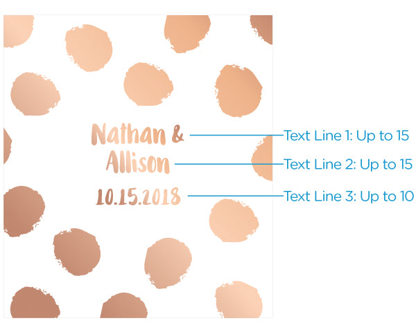 Personalized Lip Balm - Copper Foil (Set of 12)