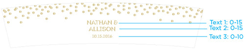 Personalized Frosted Glass Votive - Gold Foil