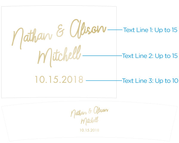 Load image into Gallery viewer, Personalized Frosted Glass Votive - Gold Foil