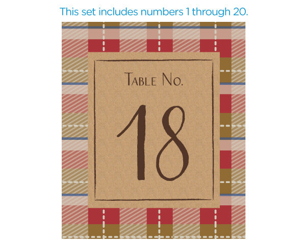 Wine Label Table Numbers - Fall (1-20)