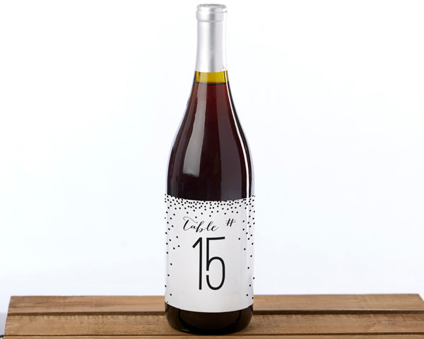 Load image into Gallery viewer, Wine Label Table Numbers (1-20)