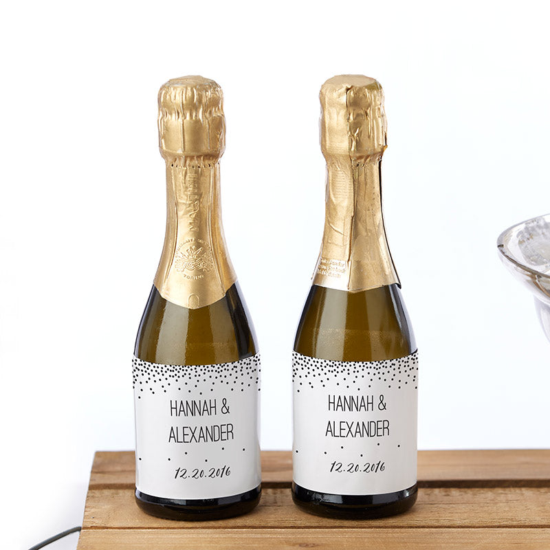Personalized Mini Wine Bottle Labels