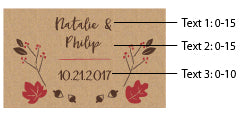 Personalized Black Matchboxes - Fall (Set of 50)