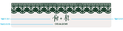 Load image into Gallery viewer, Personalized Romantic Garden Water Bottle Labels - Lace & Floral Designs