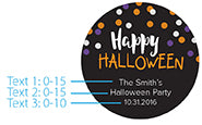 Personalized Silver Round Candy Tin - Halloween (Set of 12)