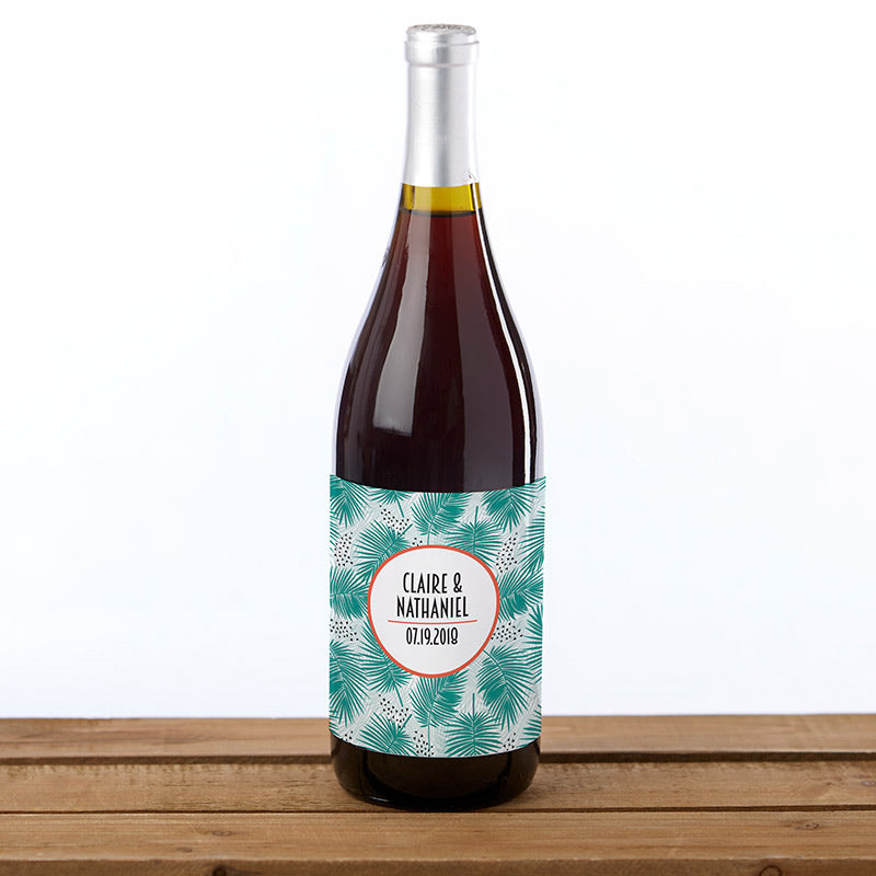 Personalized Wine Bottle Labels - Tropical Chic