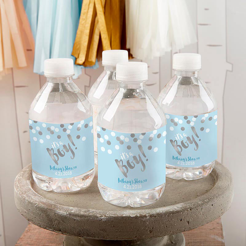 Load image into Gallery viewer, Personalized Water Bottle Labels - It's a Boy!