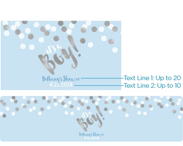 Personalized Water Bottle Labels - It's a Boy!