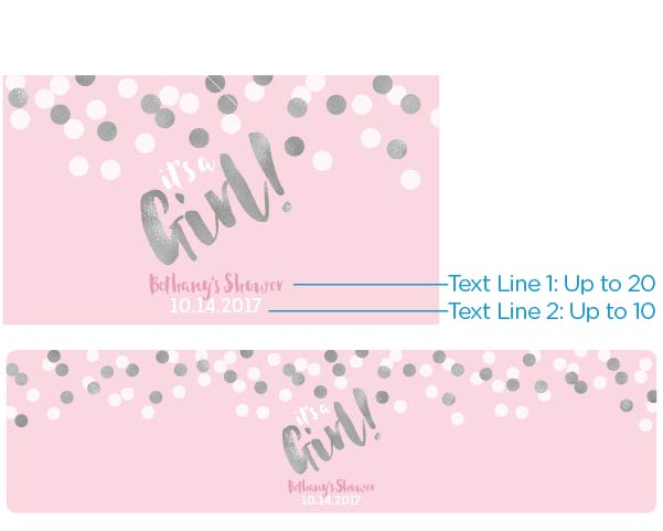 Personalized Water Bottle Labels - It's a Girl!