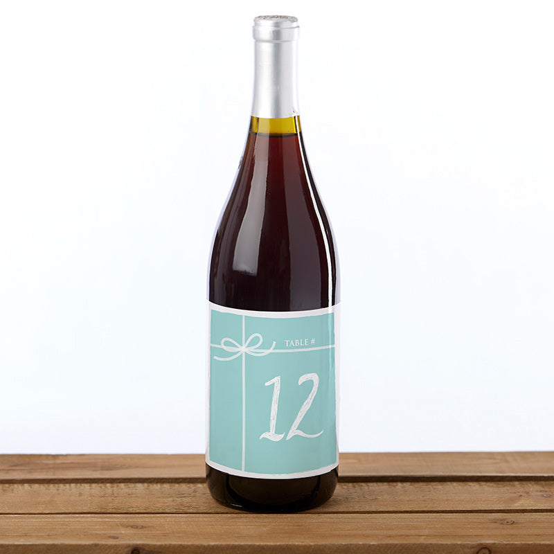 Wine Label Table Numbers - Something Blue (1-20)