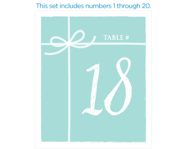 Load image into Gallery viewer, Wine Label Table Numbers - Something Blue (1-20)