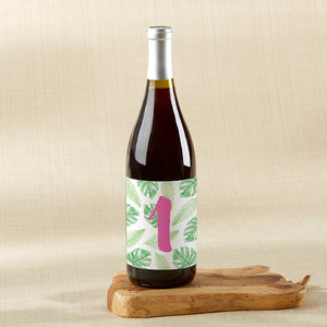Wine Label Table Numbers - Pineapples & Palms (1-20)