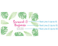 Load image into Gallery viewer, Personalized Mini Wine Bottle Labels - Pineapples & Palms