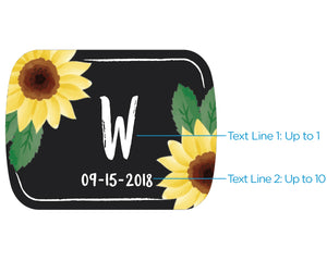 Personalized Silver Bottle Opener - Sunflower
