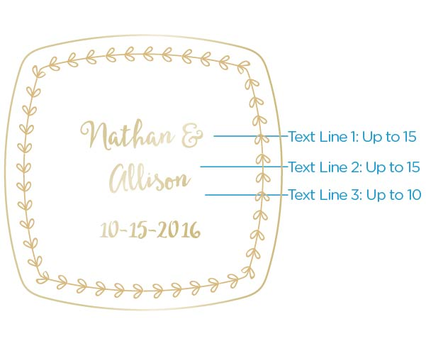 Personalized Gold Compact - Gold Foil