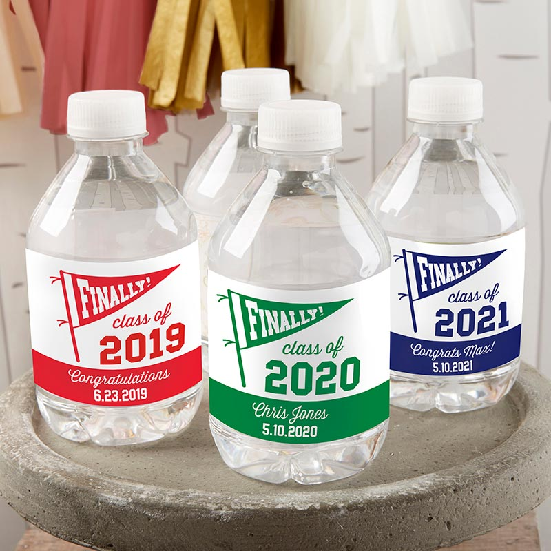 Load image into Gallery viewer, Personalized Water Bottle Labels - Finally! Class of 2019