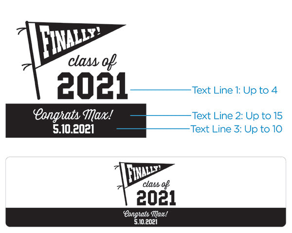 Personalized Water Bottle Labels - Finally! Class of 2020