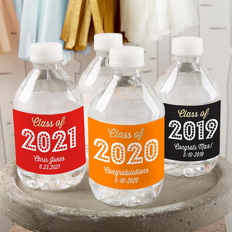 Personalized Water Bottle Labels - Class of 2019