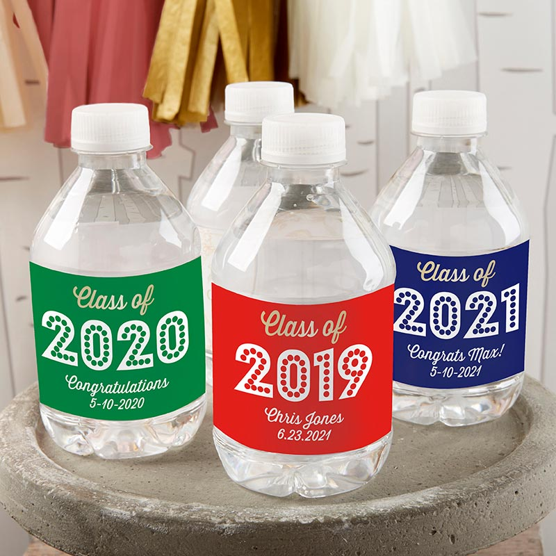 Load image into Gallery viewer, Personalized Water Bottle Labels - Class of 2019