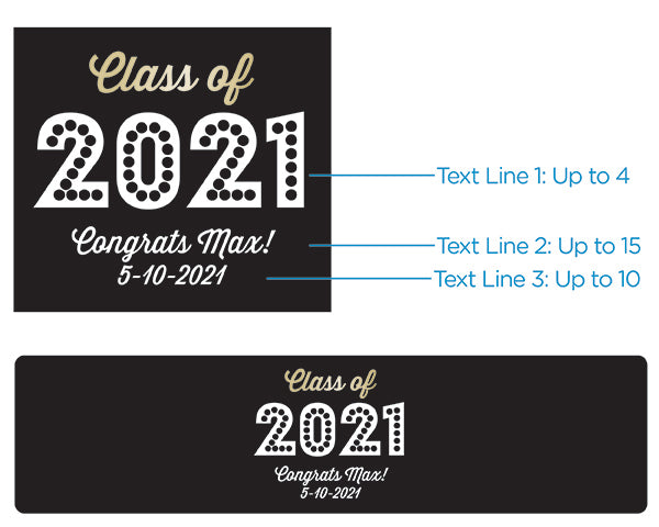 Personalized Water Bottle Labels - Class of 2020