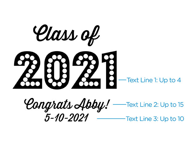 Personalized 16 oz. Can Glass - Class of 2020