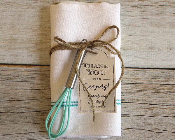 Personalized Statement Tags - Rustic (Set of 12)