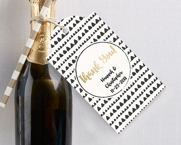 Personalized Statement Tags - Modern Classic (Set of 12)