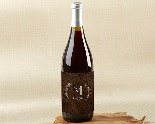 Personalized Wine Bottle Labels - Rustic Charm Wedding