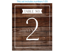 Load image into Gallery viewer, Wine Label Table Numbers - Winter (1-20)