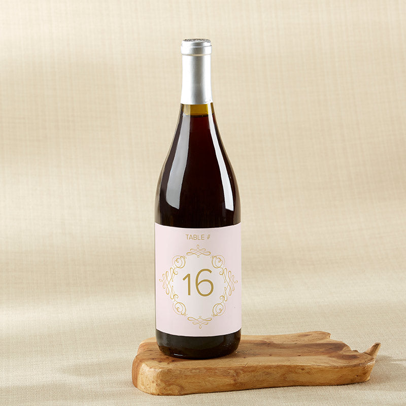 Modern Romance Wine Label Table Numbers (1-20)