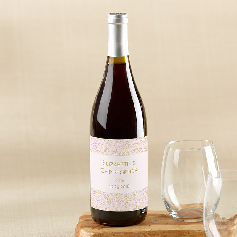 Personalized Wine Bottle Labels - Modern Romance