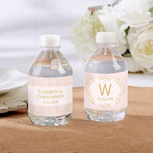 Load image into Gallery viewer, Personalized Water Bottle Labels - Modern Romance