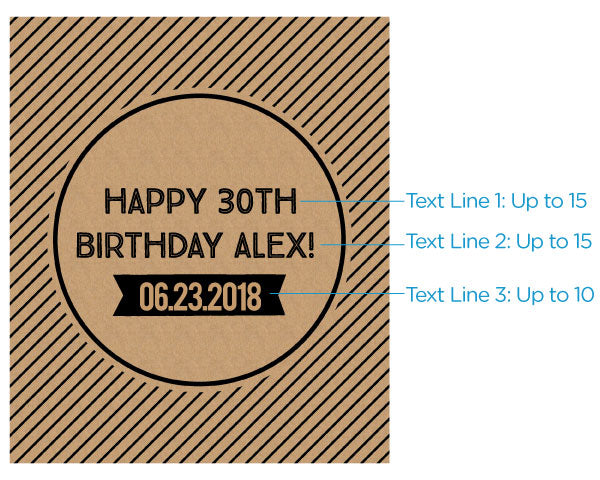 Load image into Gallery viewer, Personalized Wine Bottle Labels - Boozy Birthday
