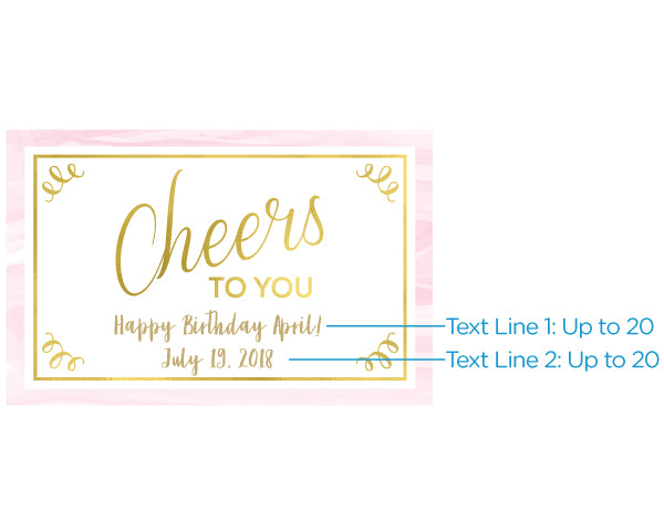 Personalized Mini Wine Bottle Labels - Birthday For Her