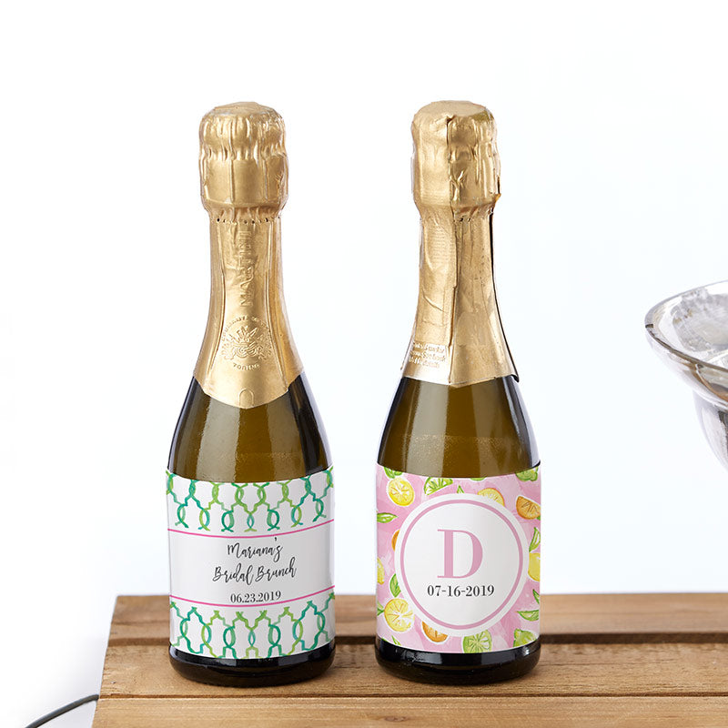Personalized Mini Wine Bottle Labels - Cheery & Chic