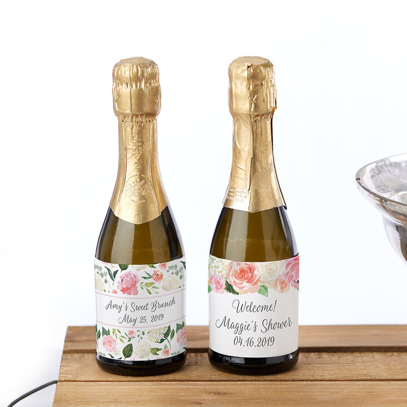Personalized Mini Wine Bottle Labels - Brunch