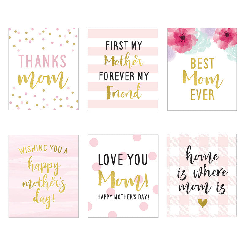 Mother's Day Wine Bottle Label (Set of 6)