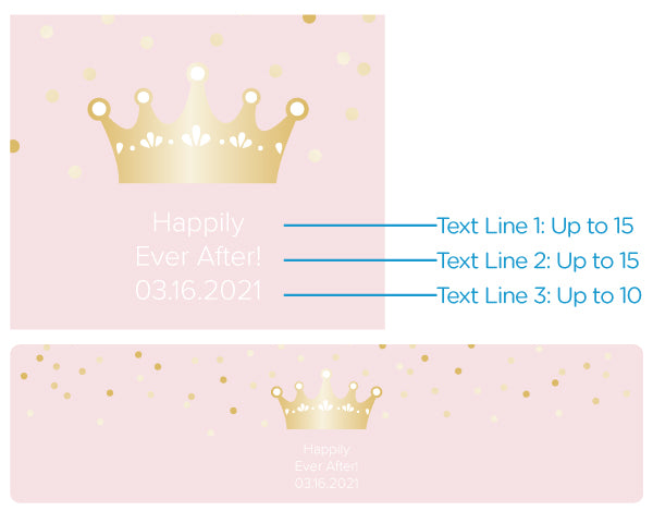 Load image into Gallery viewer, Personalized Water Bottle Labels - Princess Party